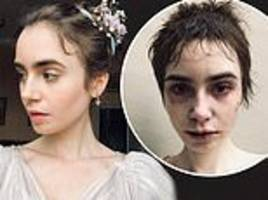 les misérables' lily collins shares photos of fantine's after character's heartbreaking death