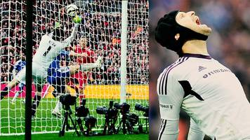 petr cech: retiring goalkeeper's incredible save for chelsea in fa cup final v liverpool