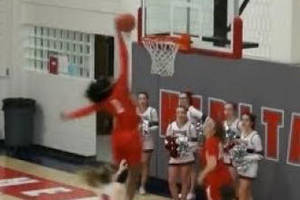 Girl Throws Down First-Ever High School Girls' Basketball Alley-Oop