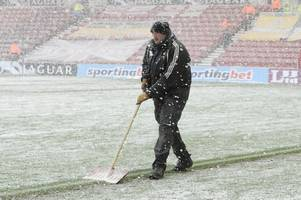 Winter weather could cause havoc for English football this weekend
