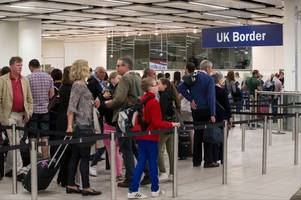 cornwall airport newquay passengers stranded after border force staff 'failed to turn up'
