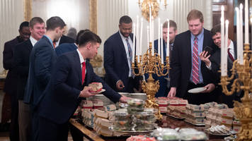 President Trump Claims Clemson Ate Over 1,000 Burgers at White House