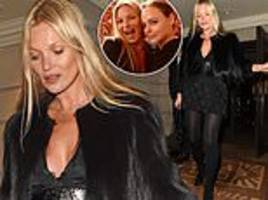 kate moss turns heads as she celebrates her 45th birthday with pal stella mccartney in london