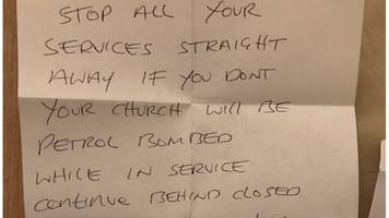 'Petrol bomb' threats sent to churches and supermarkets