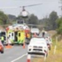 car and truck collide near rotorua, four injured