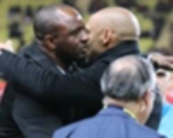 thierry henry on vieira reunion in monaco vs nice derby: it felt really weird