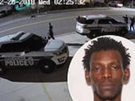 Dramatic footage shows moment a man is fatally shot during police shootout