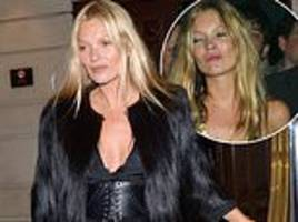 kate moss shows kicking the booze has paid off as she appears fresh-faced after leaving 45th party
