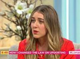 'upskirting' victim tells of horrifying moment she realised man took a picture up her skirt