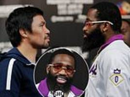 adrien broner dismisses talk of manny pacquiao facing floyd mayweather again ahead of fight