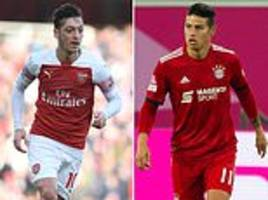 james rodriguez could be the man to replace mesut ozil at arsenal
