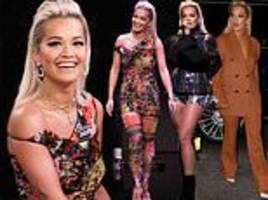 Rita Ora rocks two thigh-skimming fashion-forward outfits on The Tonight Show Starring Jimmy Fallon