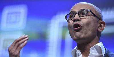 microsoft ceo satya nadella took a subtle swipe at amazon and other rivals by calling the uses of facial recognition 'terrible' (mfst)