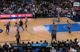 highlights: dirk nowitzki from the corner for three