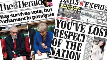 scotland's papers: 'parliament in paralysis' after vote