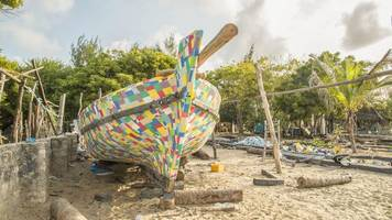 this boat made from 30,000 flip-flops will set sail to raise awareness about plastic pollution
