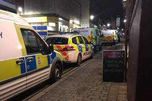 witnesses spot heavy police presence, an ambulance and a forensic van in ilkeston