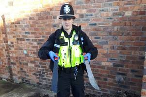 Machetes found close to city school minutes after policing minister's knife crime visit