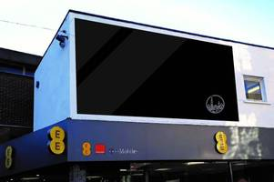 why a big screen has suddenly appeared in pontypridd
