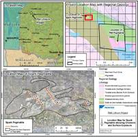 frontier lithium identifies an average of 1.91% li2o over 236m of all channels sampled on the spark pegmatite