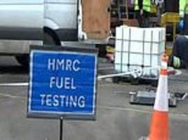 police seize more than 17,500 gallons of 'illicit fuel' worth £56,000