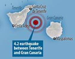 tenerife earthquake: tourist hotspot is shaken by tremor in atlantic
