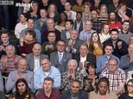 bbc question time audience erupt in applause and cheers at prospect of a no-deal brexit