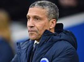 Brighton remain positive when playing at Premier League's elite, insists manager Chris Hughton