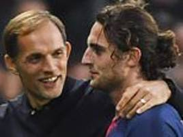 psg playmaker adrien rabiot ruled out of contention by thomas tuchel
