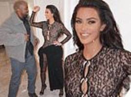 Kim Kardashian and Kanye West are all-smiles in playful throwback snaps