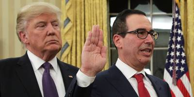 stock traders are jubilant after a report that mnuchin is mulling a lift of china tariffs