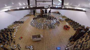 Thousands of clocks wind up for inventor John Harrison exhibition