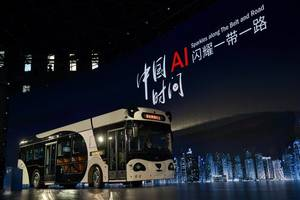 deepblue technology hits the urban roadway with the debut of the smart panda bus