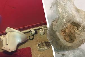 two charged after 'heroin and cocaine' found in toilet u-bend in derby