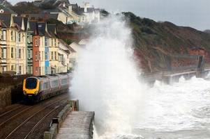 severe weather sees trains cancelled and delayed in devon