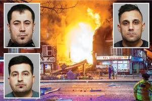 three killers jailed for 99 years for insurance scam shop blast murders