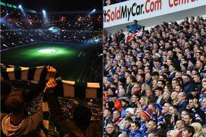 where celtic and rangers rank in uefa report showing highest attendances