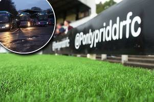 pontypridd fans are still heading to north wales - even though their match was called off