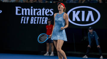 maria sharapova takes down defending champion caroline wozniacki in back-and-forth match