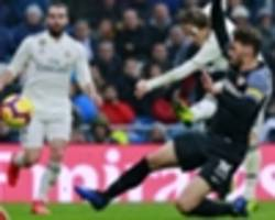 real madrid 2 sevilla 0: solari's side take over third spot