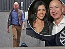 amazon ceo is seen for the first time since his marriage break-up scandal