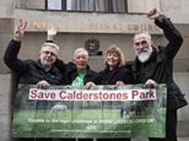 campaigners backed by the mail on sunday stop historic park being concreted over by luxury homes