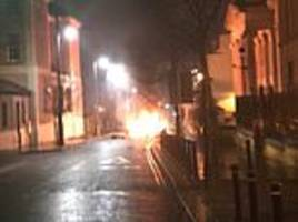 car bomb explodes in londonderry as police warn people to stay away from area