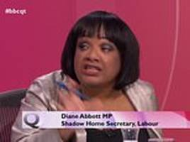 labour's shadow home secretary diane abbott claims 'hostile atmosphere' on question time