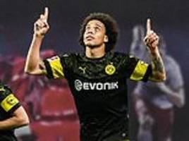 axel witsel restores his side's six-point lead over bayern munich at the top of the bundesliga