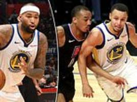 golden state 112-94 los angeles clippers: demarcus cousins' impresses on debut