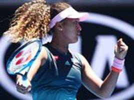 naomi osaka survives scare against hsieh su-wei to book her place in fourth round of australian open