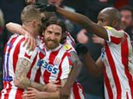 stoke 2-1 leeds: goals from and sam clucas and joe allen earn potters first victory under jones