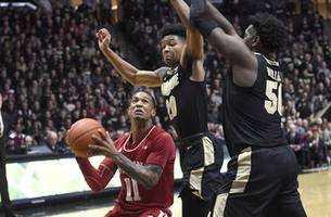 Purdue cruises past rival No. 25 Indiana 70-55
