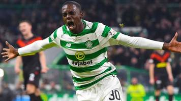 weah scores debut goal as celtic beat airdrie in scottish cup